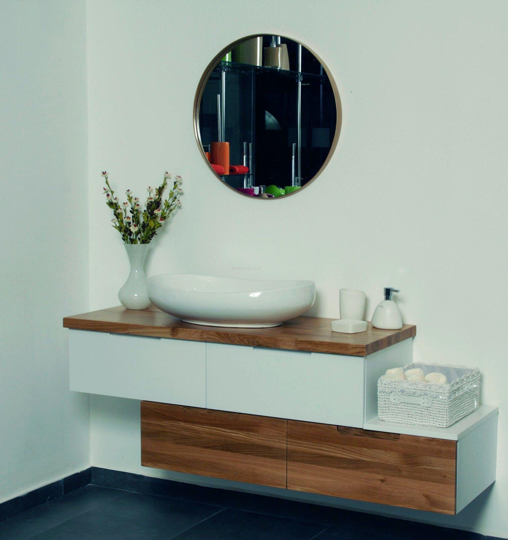 ארון אמבטיה מדורג תלוי