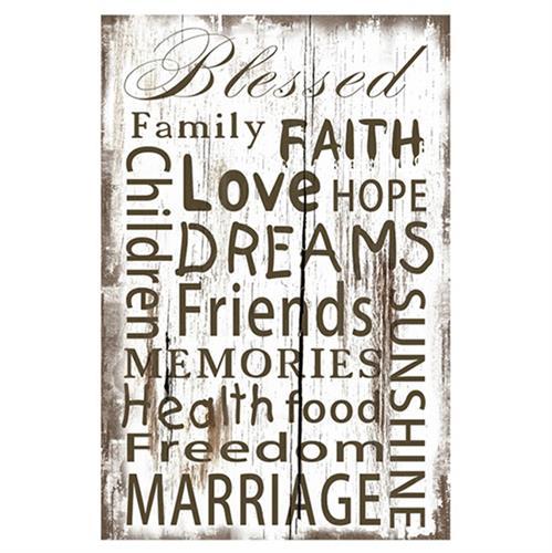 שלט עץ faith