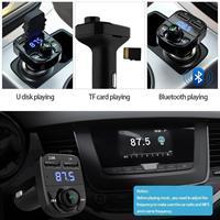 משדר FM-דגם HY82 המקצועי לרכב עם בלוטוס+aux+דיבורית