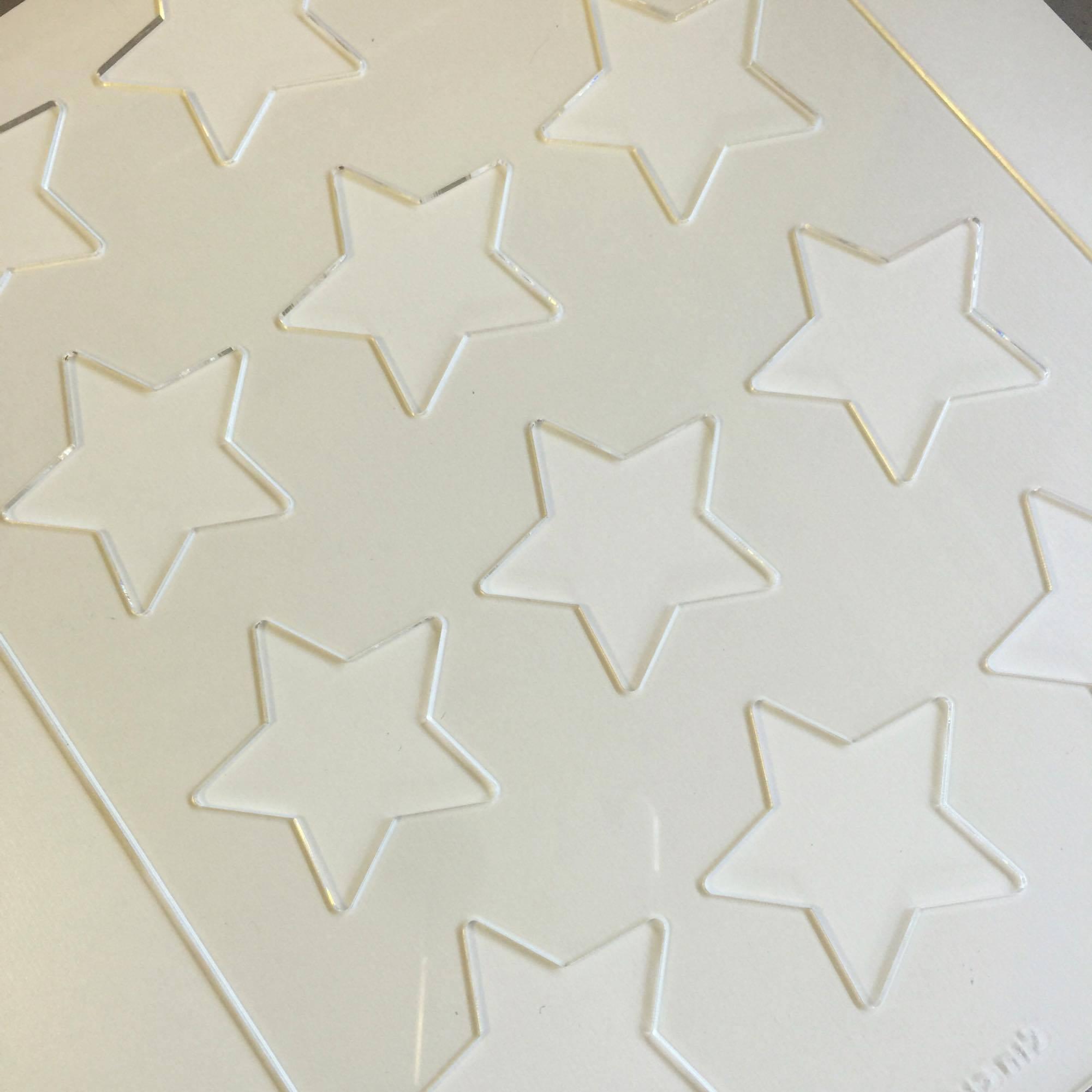 לוח כוכבים - ליצירה בשוקולד