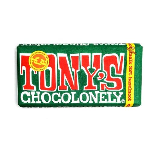 Tony's Chocolonely שוקולד חלב ואגוזי לוז (100% free slave)