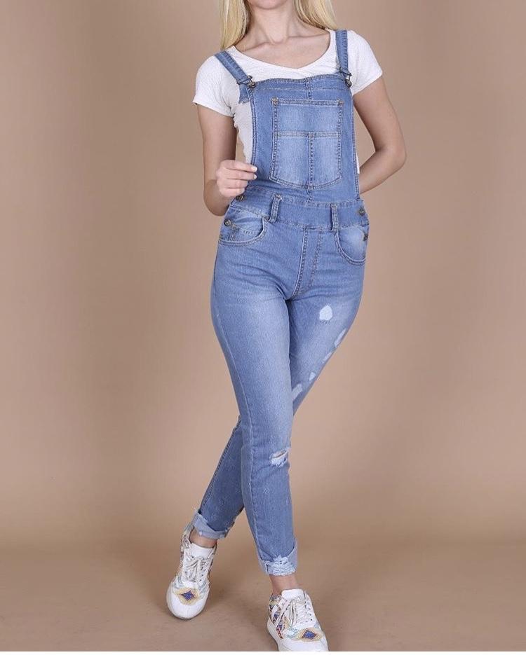 אוברול ג'ינס בלו