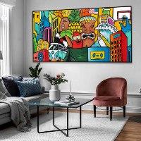 תמונה צבעונית לסלון מודרני