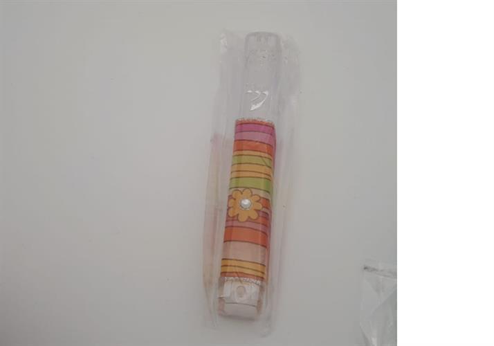 מזוזה פלסטיק שקוף פסים צבעוני