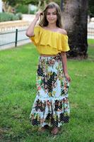 חצאית מקסי קומות
