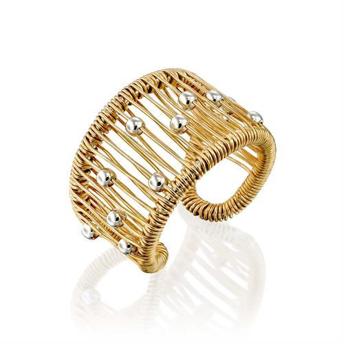 טבעת משי צהוב