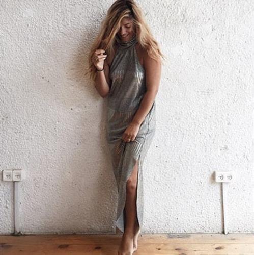 שמלת קרלה כסף לורקס
