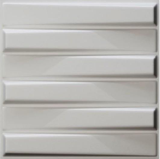 חיפויי קיר תלת מימדי דגם ''bladet'' בגודל 50X50