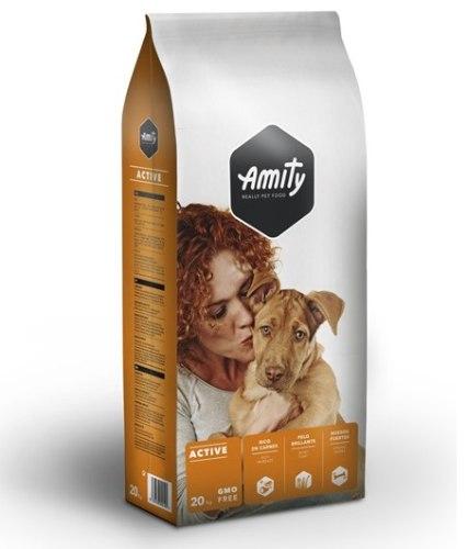 """מזון לכלבים 20 ק""""ג Amity אקטיב בשר ועוף"""