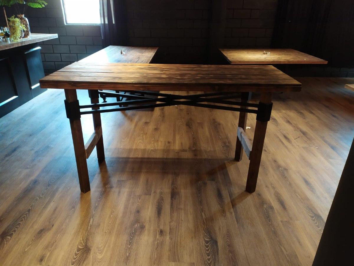 שולחן בר ארוך-עץ