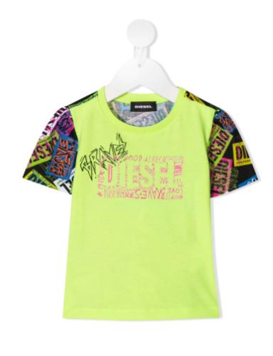 חולצת בייבי בנות DIESEL זוהרת - 3-18 חודשים