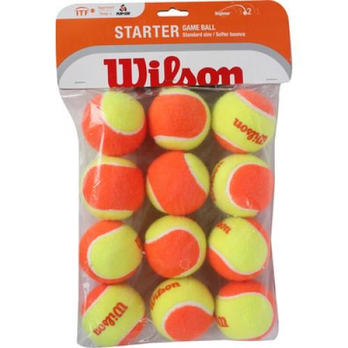 כדורי Wilson כתום למתחילים (50%) 12 כדורים בחבילה