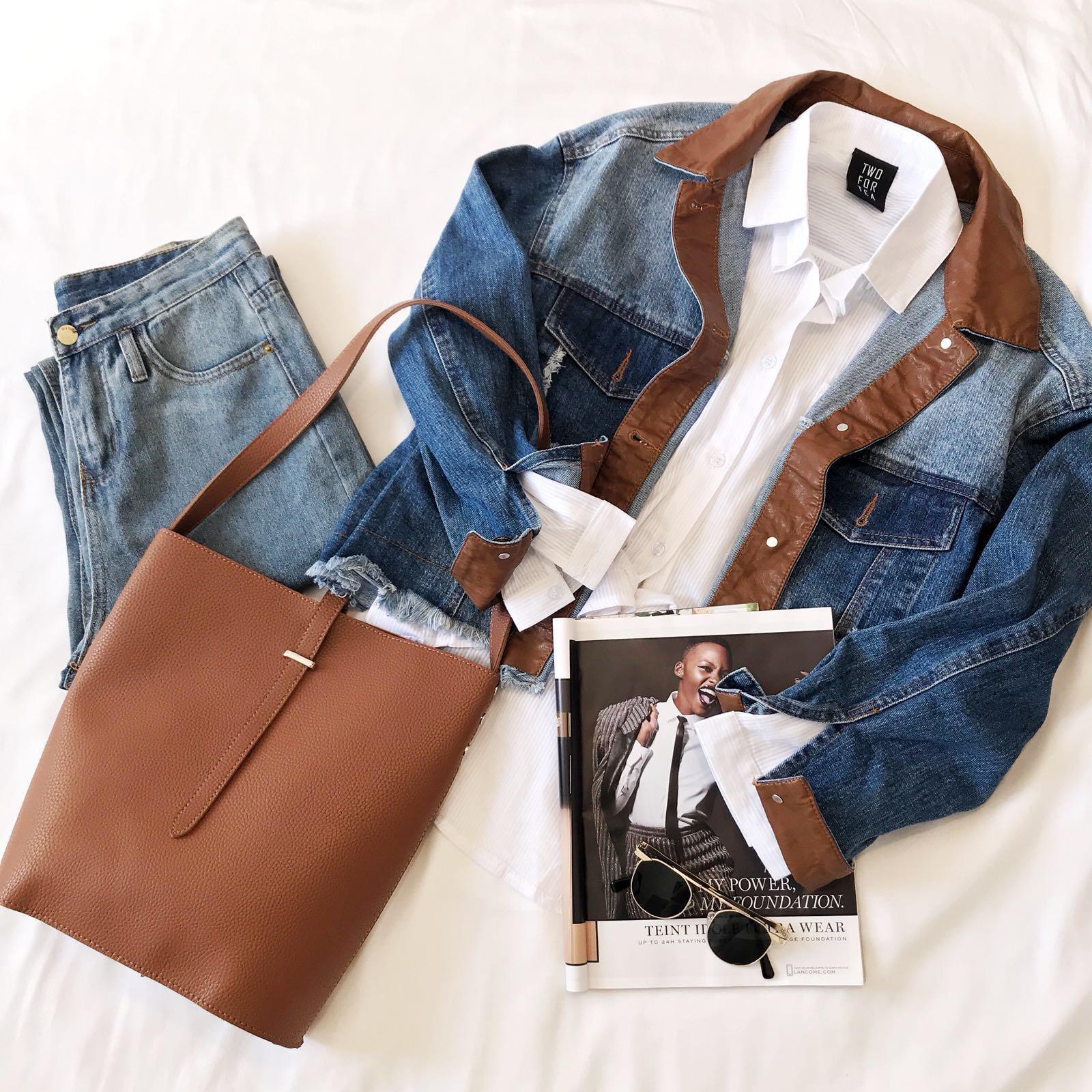 ז'קט אוליב ג'ינס