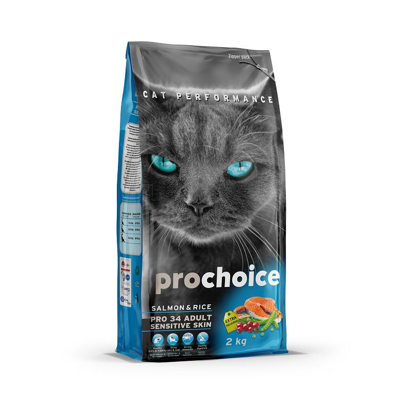 """אוכל לחתולים בוגרים פרו צ'ויס לחתול סלמון 15 ק""""ג"""