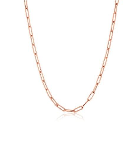 שרשרת זהב אדום דגם אטב 42 סמ