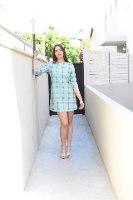 שמלה ירוקה גיאומטרית