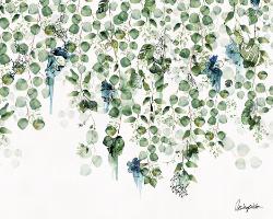 ציור בצבעים כחול ירוק טורקיז של דגים