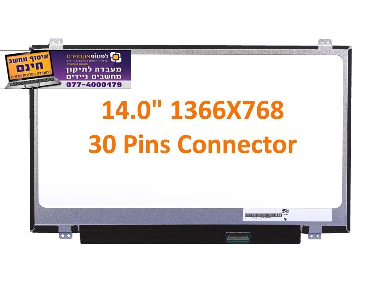 """מסך להחלפה במחשב נייד N140BGA-EA3 N140BGA-EA4 14.0"""" HD 1366X768 Laptop LED LCD Screen Slim"""