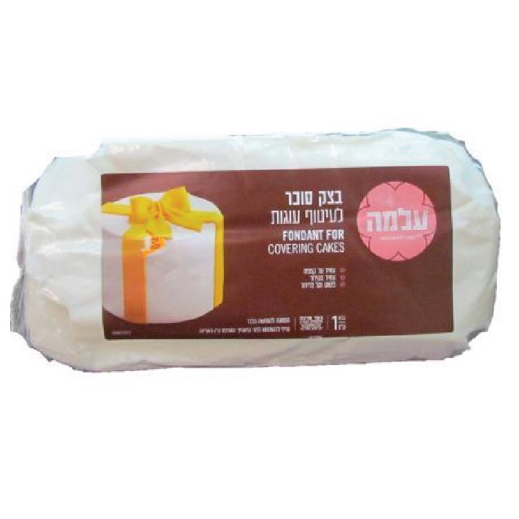 """מארז 6 יחידות בצק סוכר לבן עלמה 1 ק""""ג"""