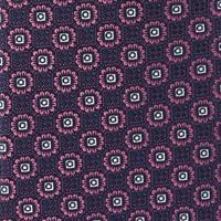 עניבה קלאסית פרחים סגולה