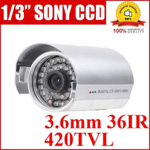 מצלמת אבטחה מקצועית 3.6MM עמידה במים חיישן CCD של SONY עם ראיית לילה 36IR
