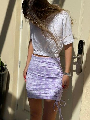 חצאית כיווצים סגול