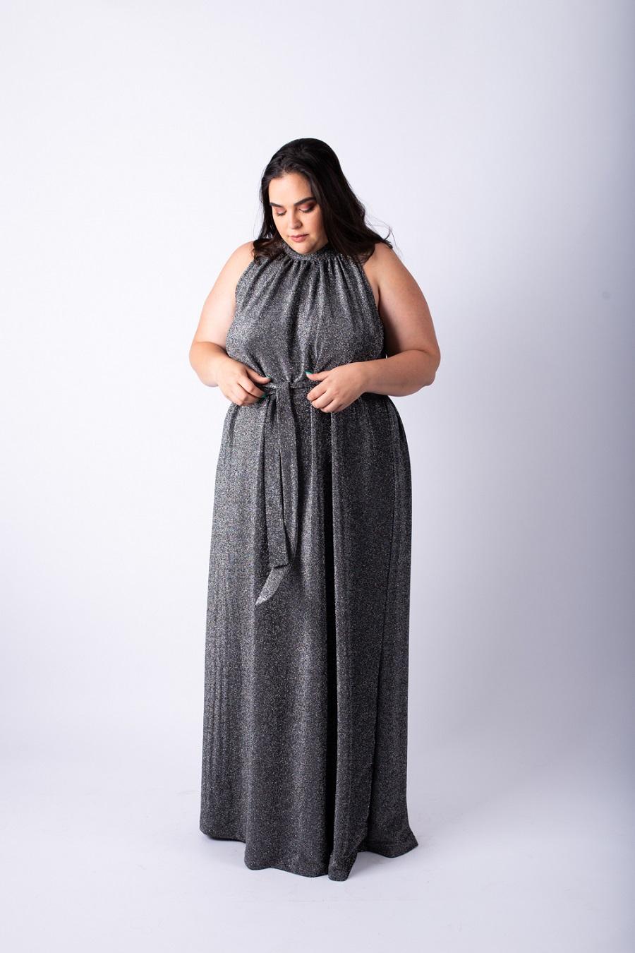 שמלת אליס מקסי כסופה