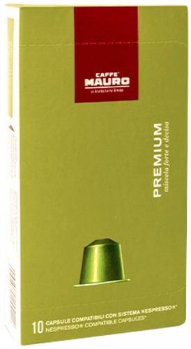 10 קפסולות תואמות נספרסו Caffe Mauro PREMIUM