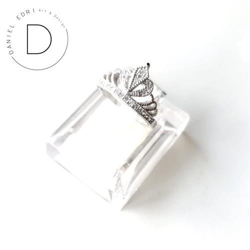 טבעת כתר מלכה- כסף 925