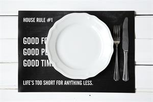 פלייסמט HOUSE RULE