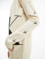 CALVIN KLEIN שמלת פוטר עם קפוצון צבע בז׳ מידות 4-16