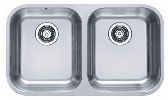 כיור UKINOX נירוסטה כפול בהתקנה שטוחה דגם לוצרן - תוצרת אירופה - איסוף עצמי בלבד