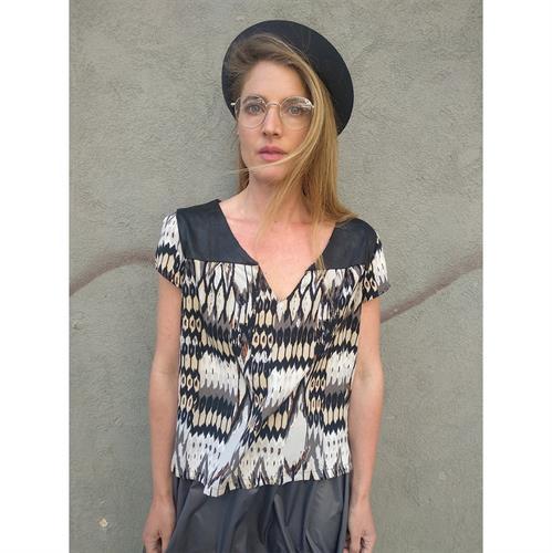 חולצת שריי הדפס אפריקאי