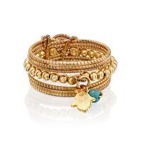 טבעת מיני ספירלי צהוב עם טיפת מזל