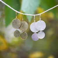 עגיל מטבעות מצופה כסף