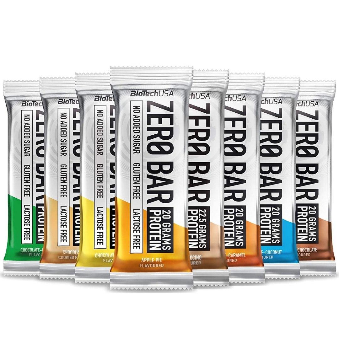 חטיף חלבון ZERO BAR BIOTECH (50 גרם) 20 יח במארז
