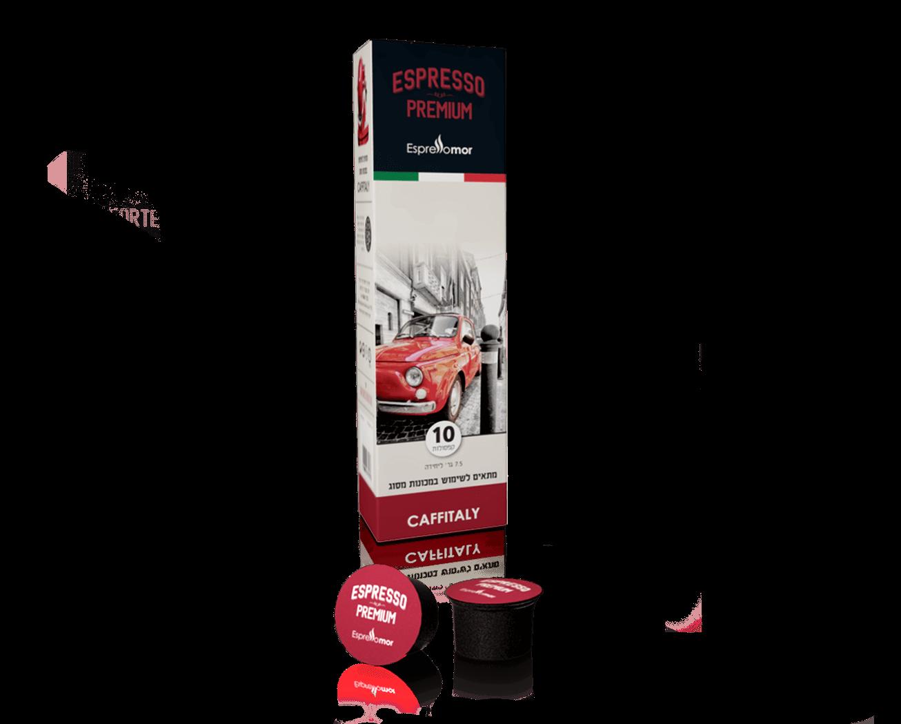 10 קפסולות אספרסו מור Premium תואם קפיטאלי