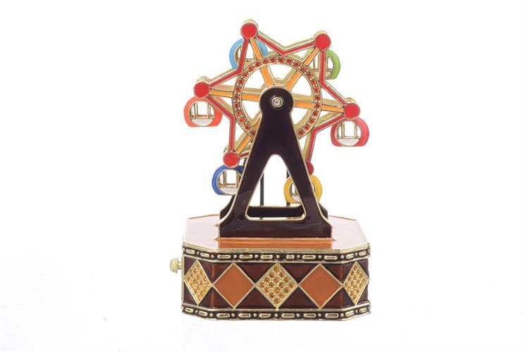 קופסת תכשיטים מנגנת - גלגל ענק צבעוני