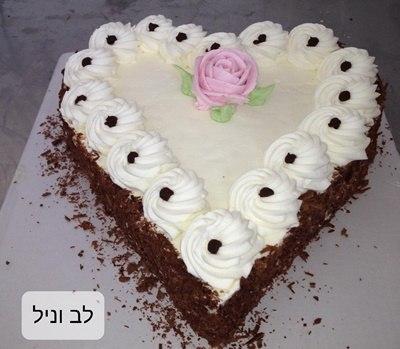 עוגת לב וניל