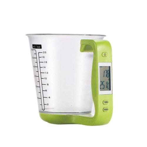 כוס מדידה טמפ' ומשקל דיגיטלי לבישול ואפייה