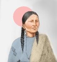 הלוחמת האינדיאנית פרטינוז-הדפס ציור