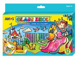 צבעי חלון AMOS - סט 12 גוונים