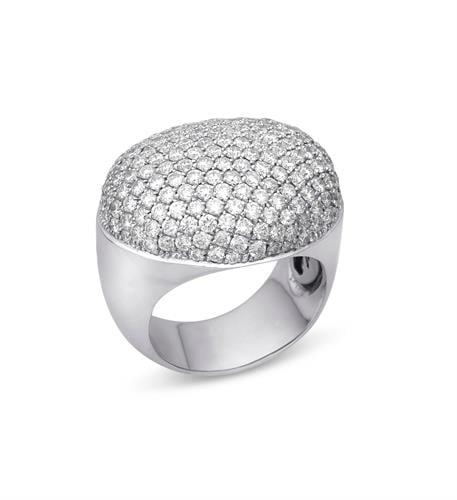 טבעת זהב בסגנון בומביי ו3.7 קראט יהלומים