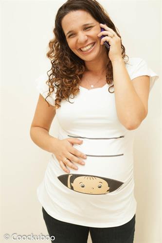 חולצה להריון קוקובו שרוול קצר תינוק מציץ