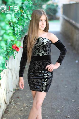 שמלה חצי כתף צמודה לאירוע
