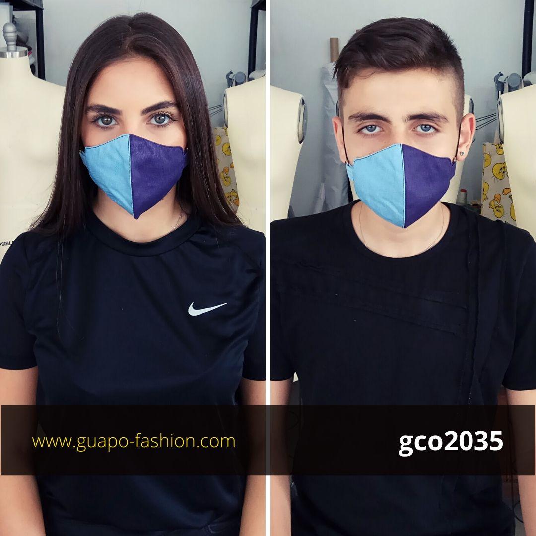 מסכת בד לקורונה שני צבעים cotton face mask