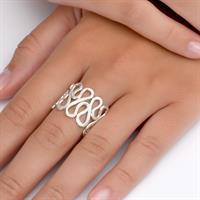טבעת שלכת לבנה