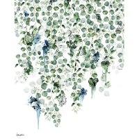 ציור של עלים ירוק כחול