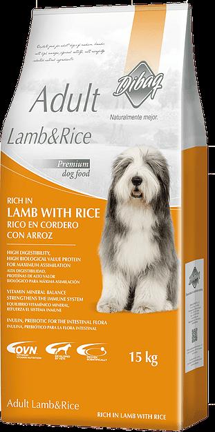 ADULT LAMB & RICE דיבג כבש ואורז 15 ק''ג