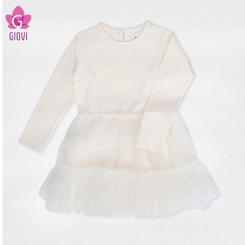 שמלה טול שמנת